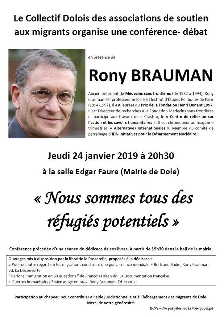 Rony Brauman à Dole le 24 janvier