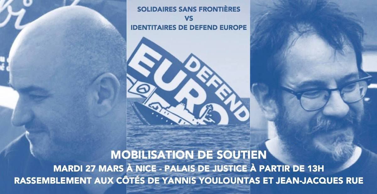 Soutien à Yannis Youlountas et Jean-Jacques Rue poursuivis en justice par un réseau identitaire