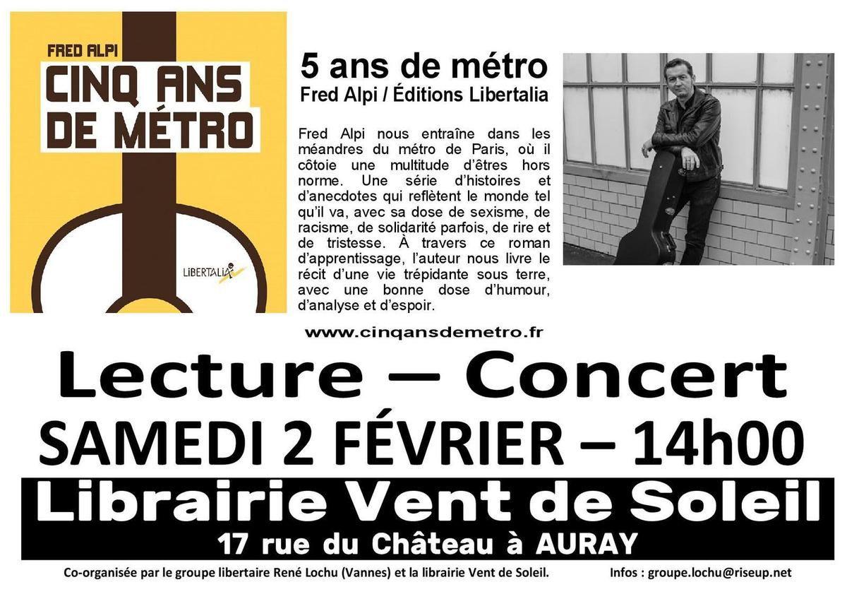 Fred alpi, rené lochu, auray, vannes, libertaire, rock, guitariste, bretagne, chanteur, 5 ans de métro, anarchiste, libertalia