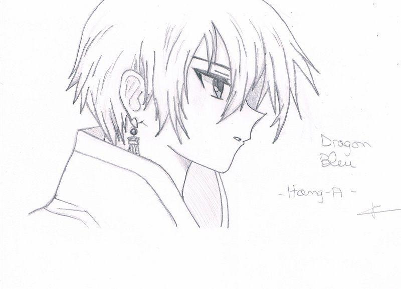 [dessin] portrait Dragon bleu du manhwa Hang-A