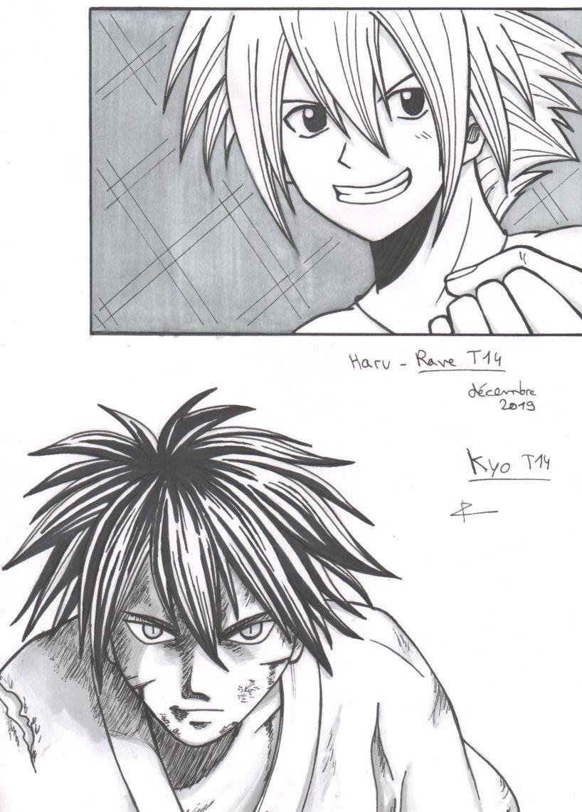 [dessin] Kyo et Haru, ombre et lumière (repros)