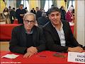 """© Crédits photos : Élisabeth et Mustapha Saha, """"Mustapha Saha et Rachid Benzine en signature de leurs livres au Maghreb-Orient des Livres à l'Hôtel de Ville à Paris les 7, 8 et 9 février 2020""""."""