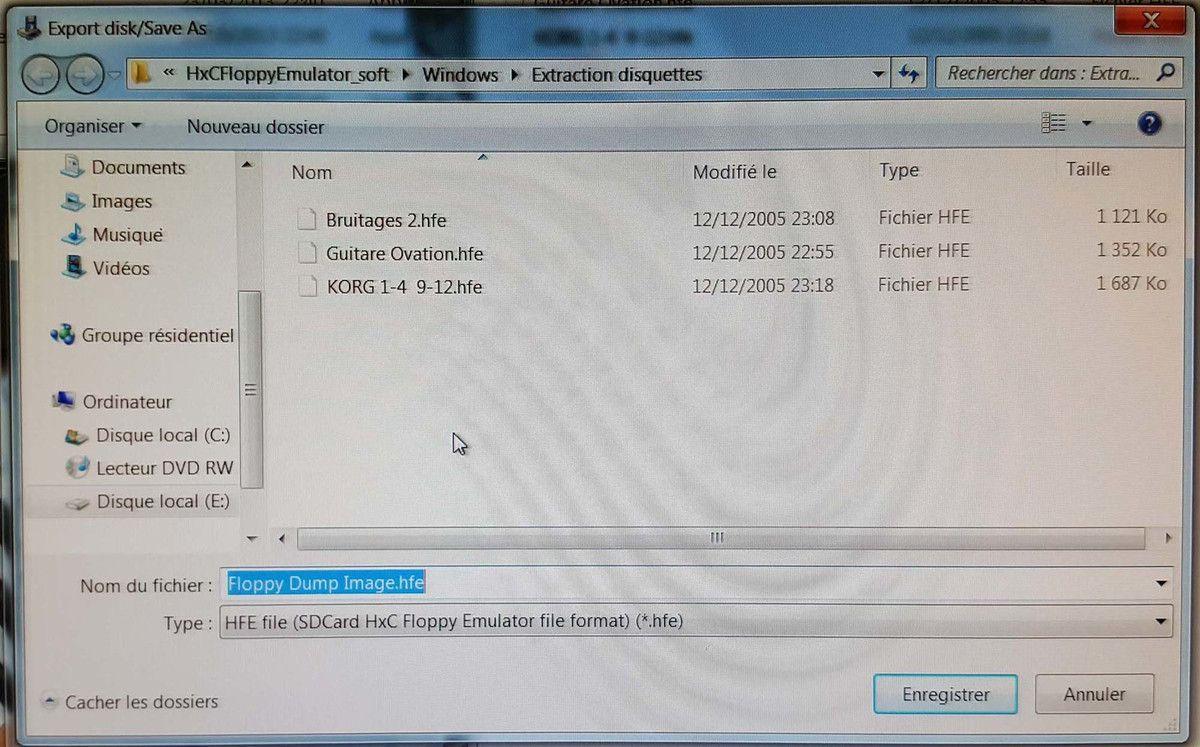 Lecture d'une disquette de Prophet2000 sur un PC