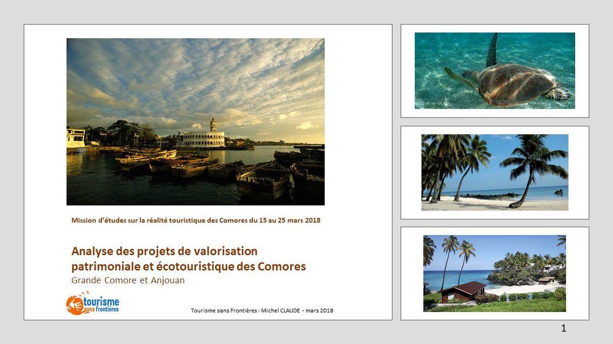 """Rapport sur l'analyse des projets de valorisation patrimoniale et écotouristiquedes des Comores (voir rapport dans la rubrique """"actions Comores"""")"""