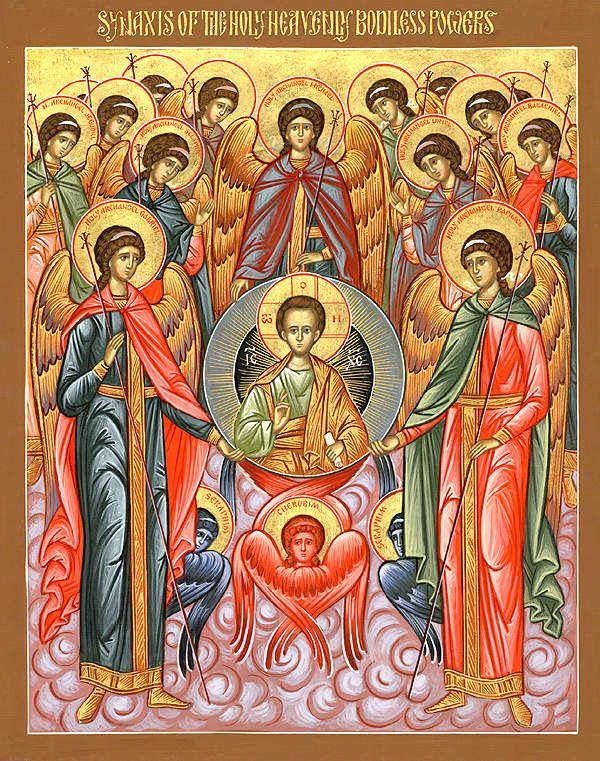 Fêté le 8 novembre (21) : Synaxe du Saint Archange Michaïl et des autres puissances sans corps