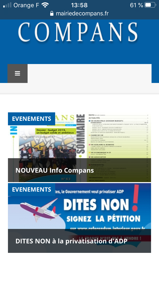 Virus : mairie de compans zéro initiative