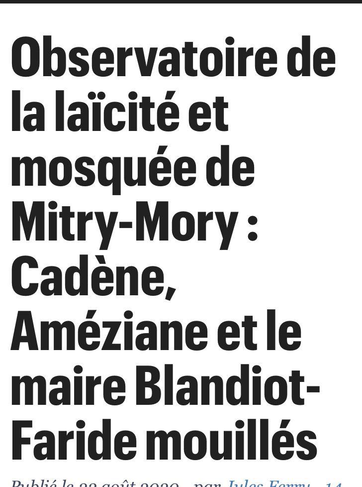 Mitry : laïcité bafouée... Épisode 7
