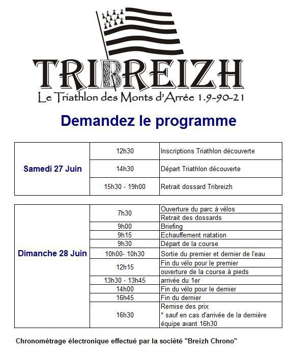 Programme du Week end Tribreizh