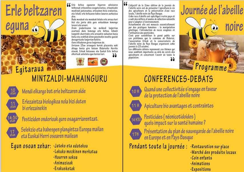 ERLEAK vous invite à la journée de l'abeille à BIDARRAI