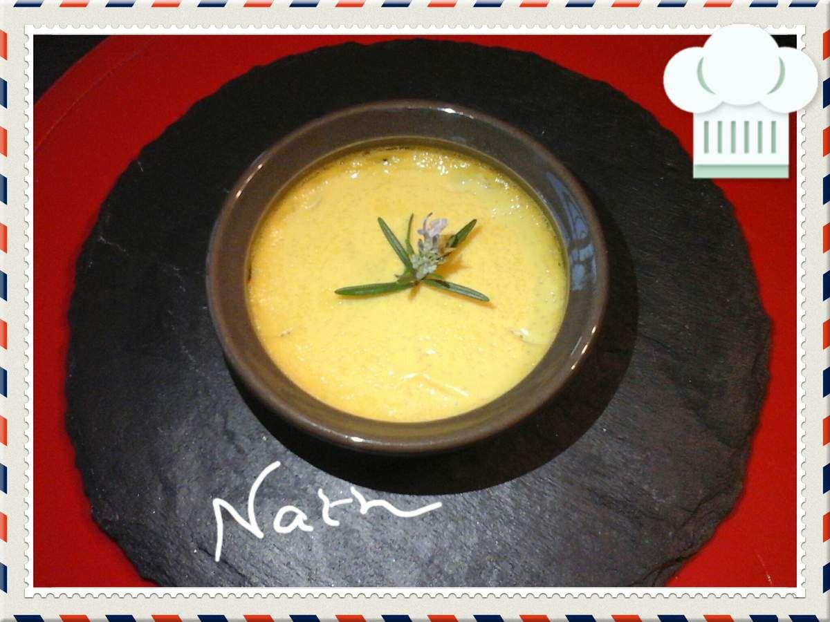 Crème brûlée romarin miel