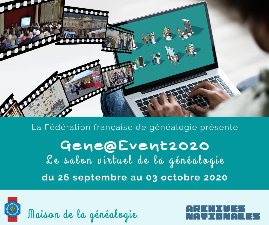 semaine de la généalogie, salon virtuel de la généalogie, Fédération française de généalogie, archives