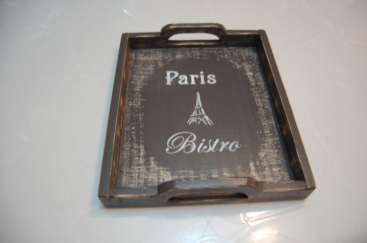 Plateau en bois de palette : déco PARIS.  Prix ....€.  Expédition possible/Frais de port : 8€