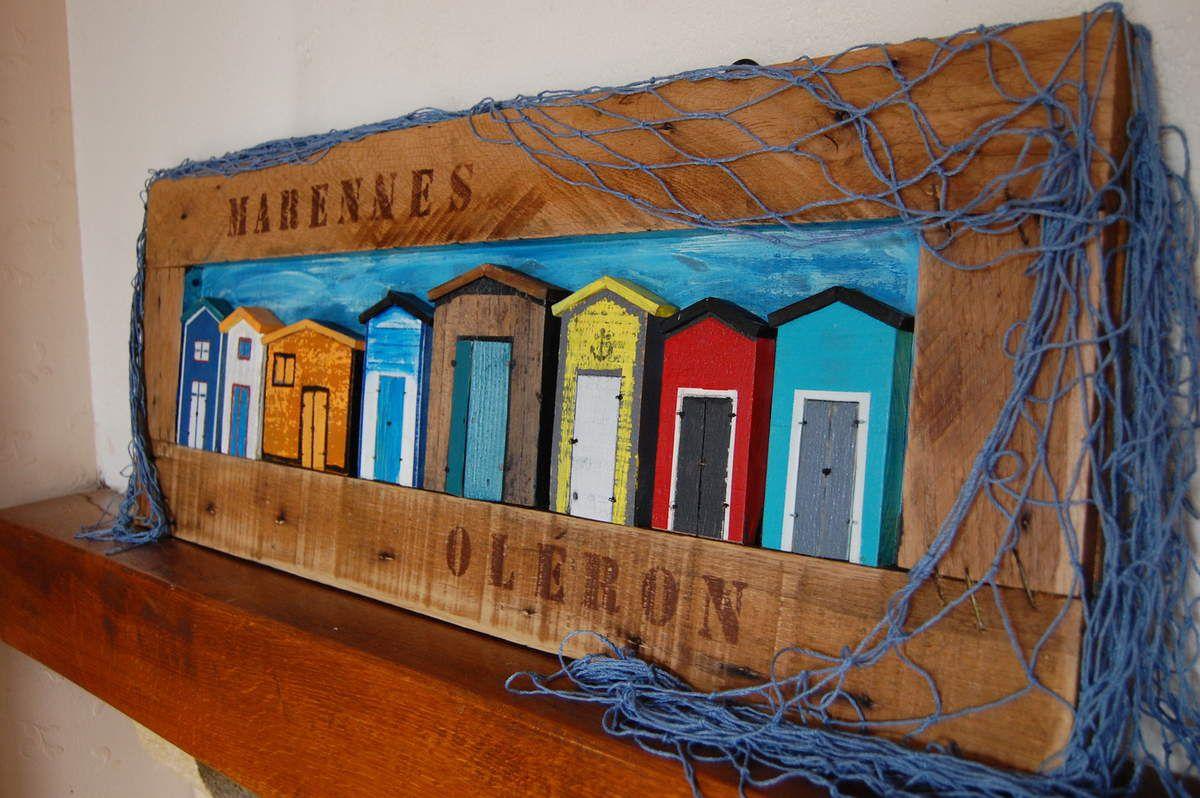 Tableau Cabanes de Pêcheurs Marennes Oléron.