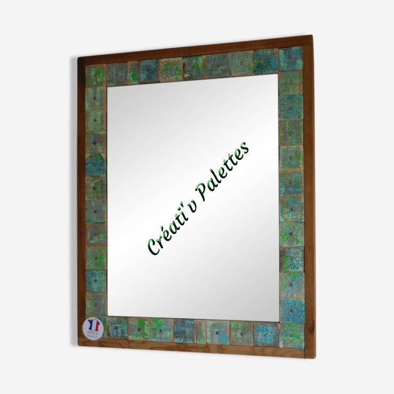 Miroir décoratif chutes de bois