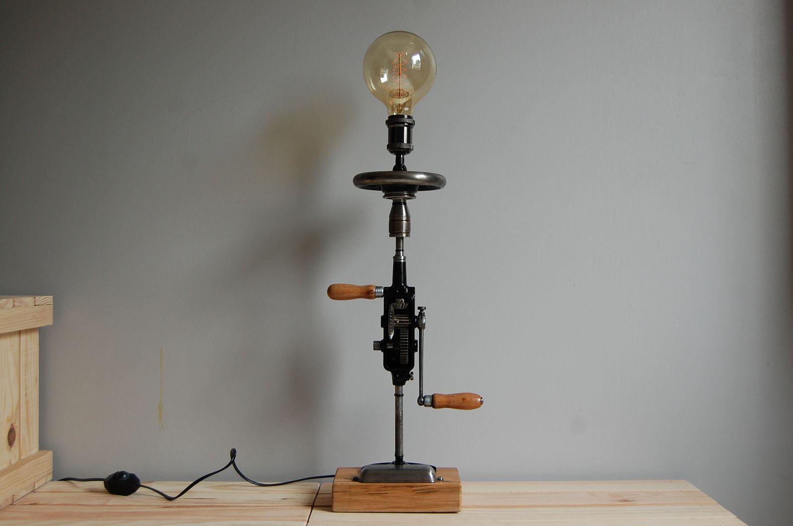 Lampe Chignole Peugeot (ancienne perceuse)