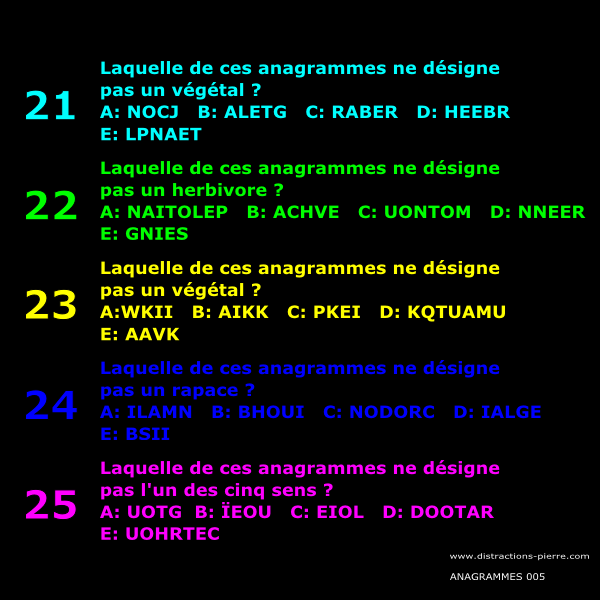Anagrammes - 001