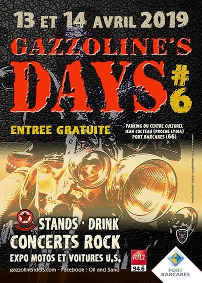 GAZZOLINE DAYS 2019 13 et 14 avril   En (66) LE BARCARES, France