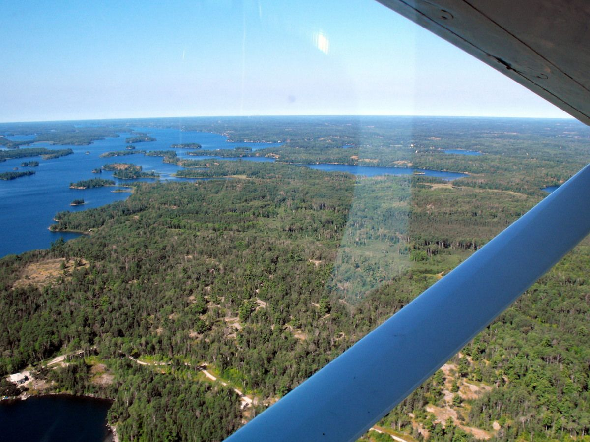Lake of the woods en hydravion à Kenora