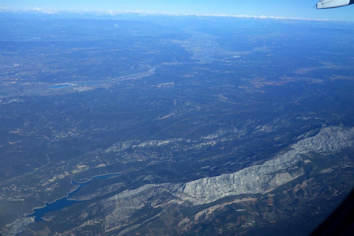 le lac de Bimont et la Sainte-Victoire