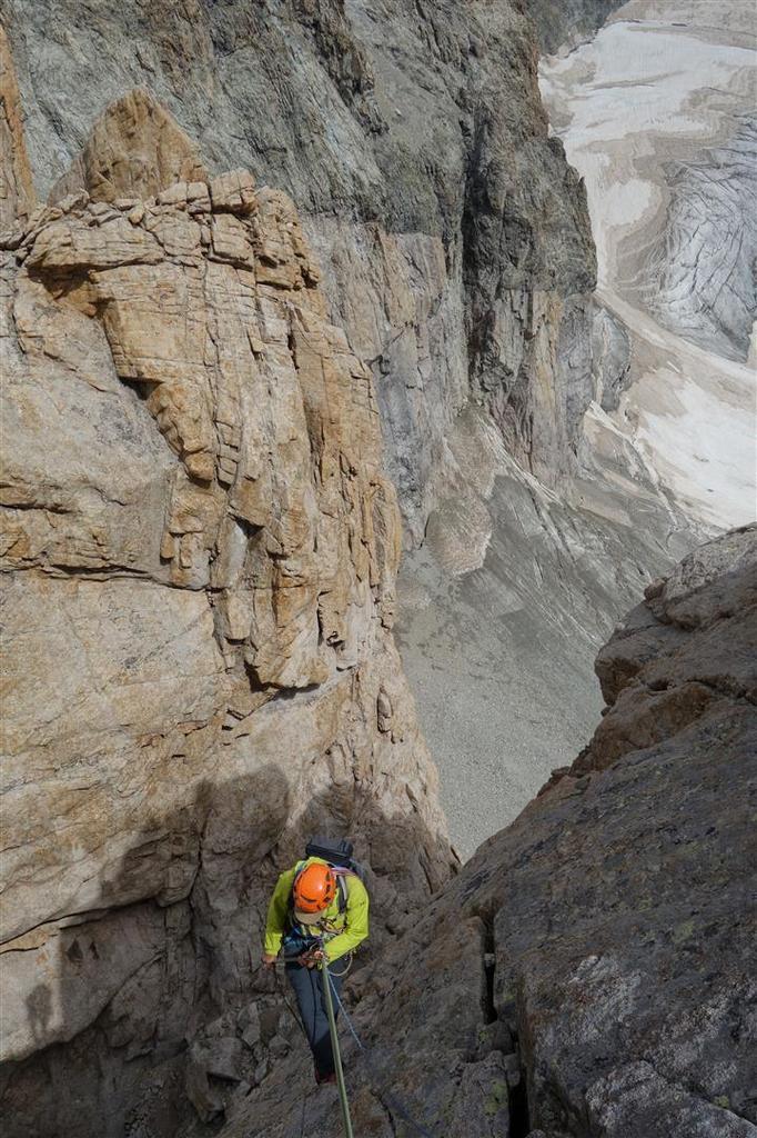 dans le rappel de descente du sommet