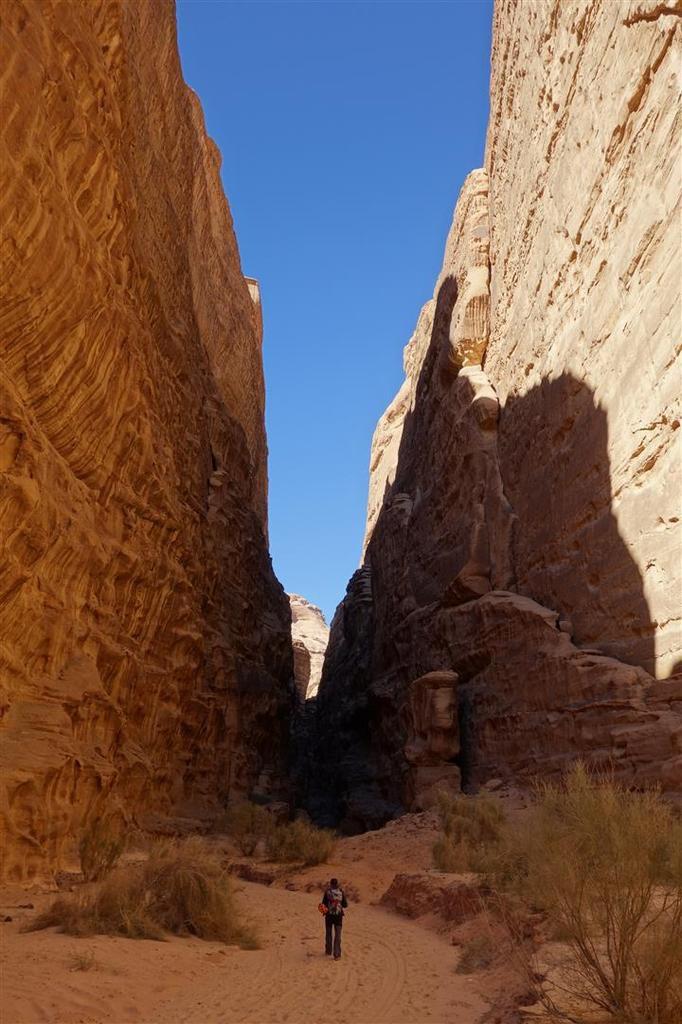 à l'entrée du canyon