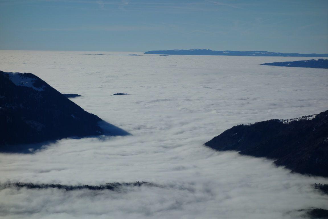 vues vers la vallée de l'Arve, les Bornes et le bas-Chablais