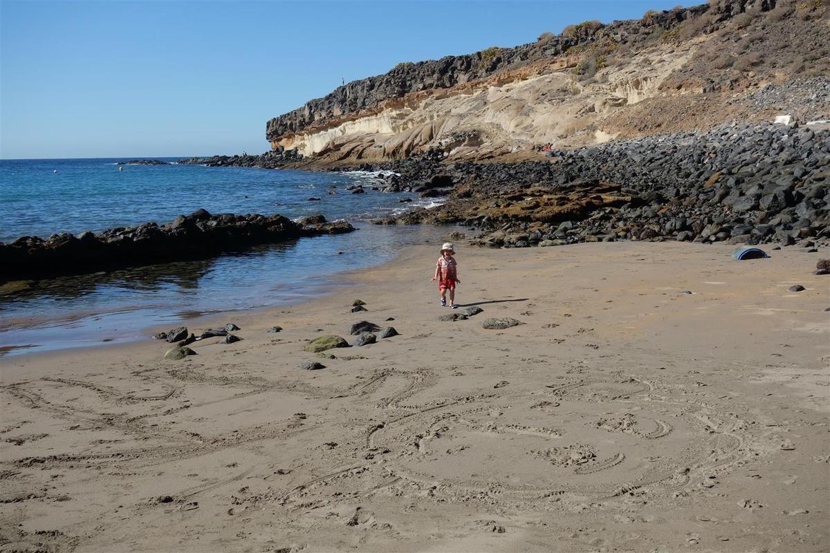 la plage à marée basse...