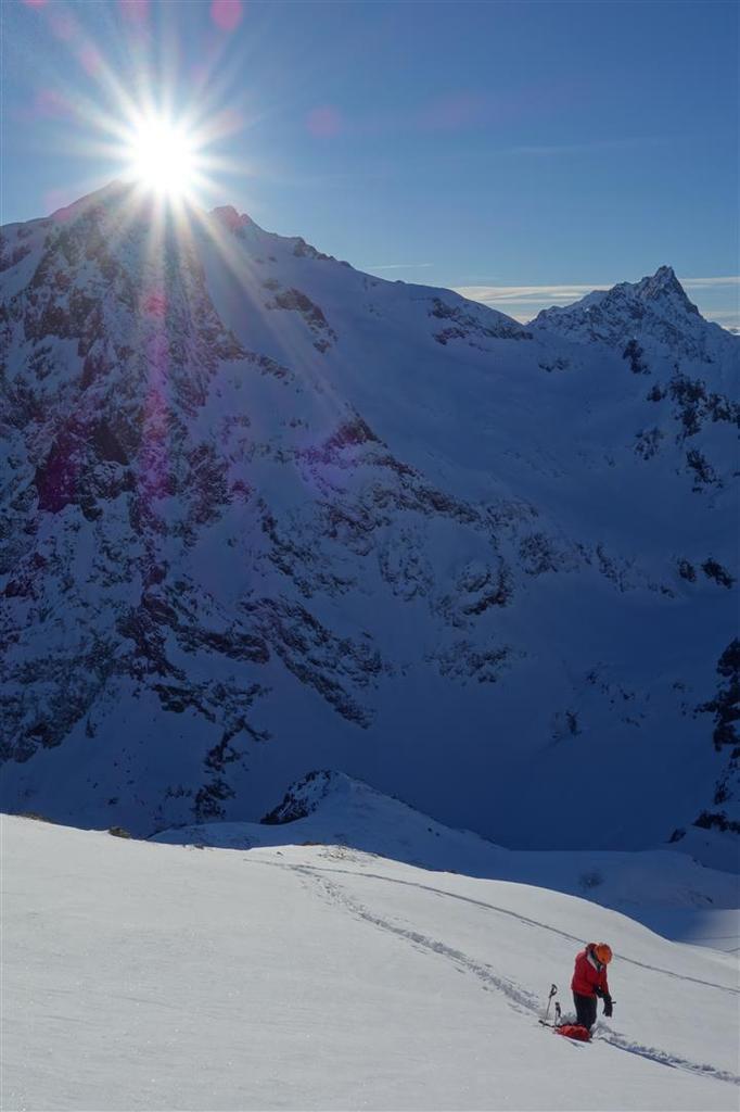 fin de montée versant sud-ouest du Puy des Baumes