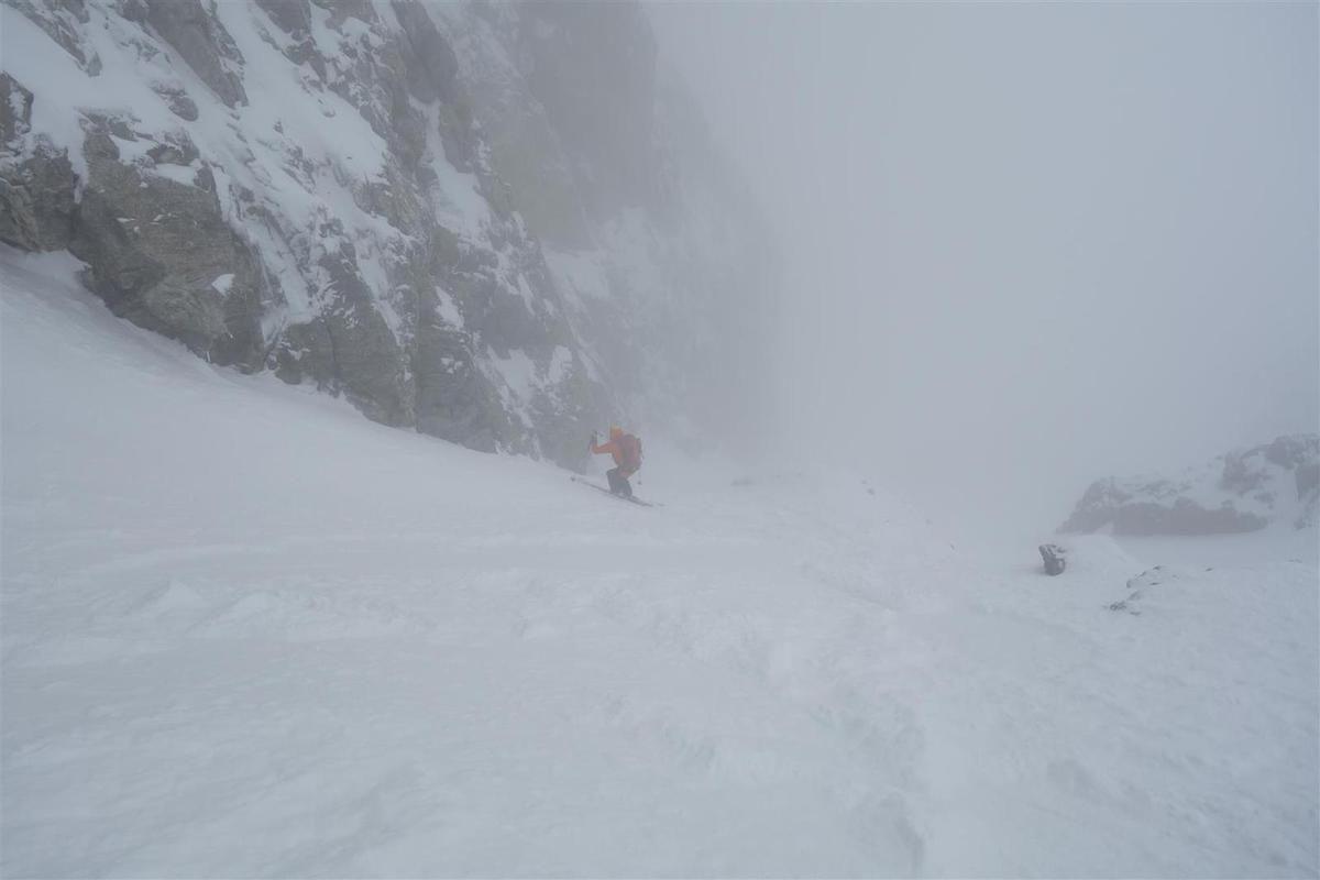 J2 : à la descente, en haut du couloir Coolidge dans le brouillard