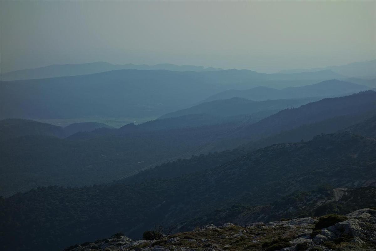vue du sommet vers l'ouest
