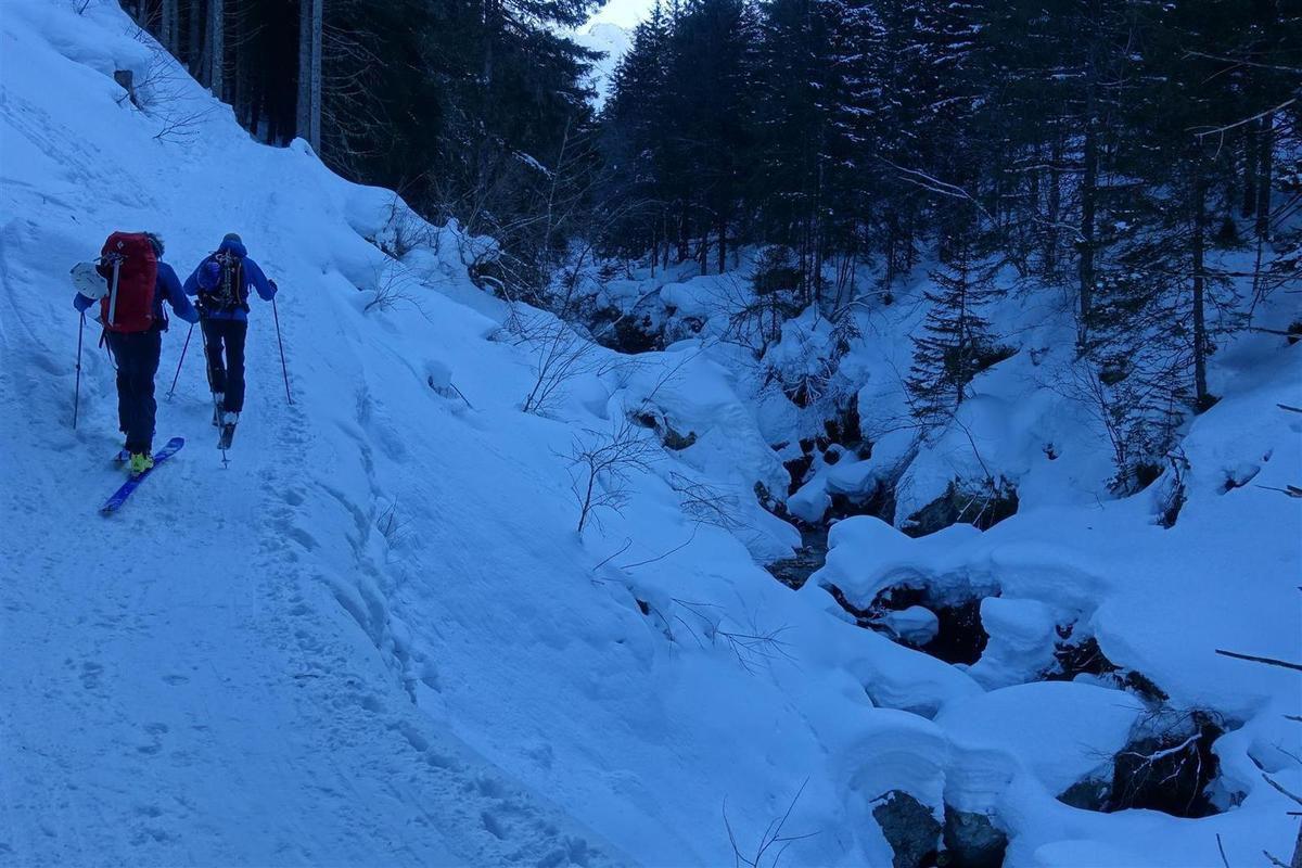dans le bas de la Combe Madame, encore une bonne épaisseur de neige