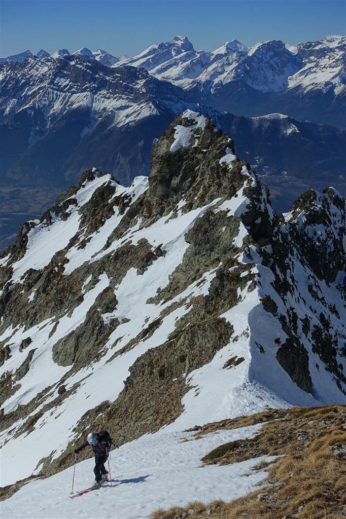 au col de Prentiq et au-dessus, face au Dévoluy