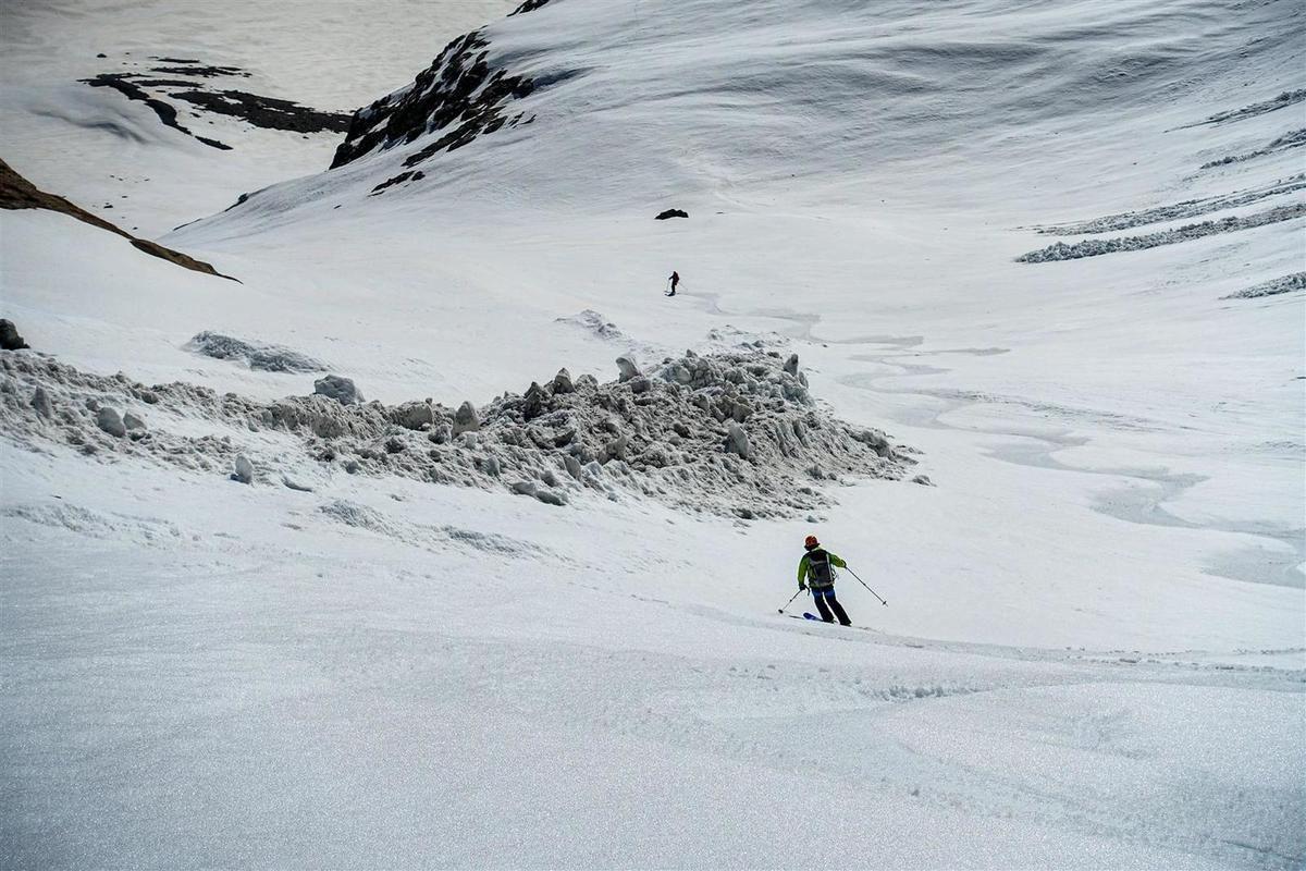 J2 : moquette sur le glacier de Séguret Foran