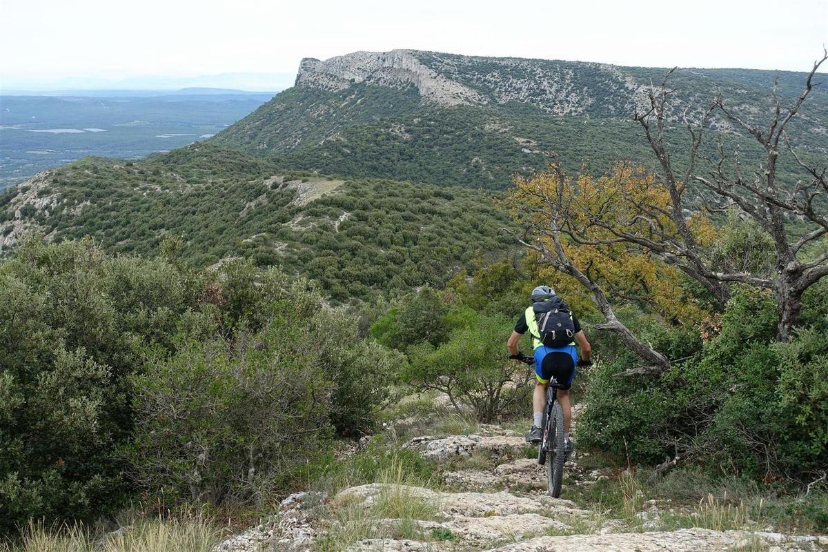 au sommet du Mont Olympe puis en haut de son versant est