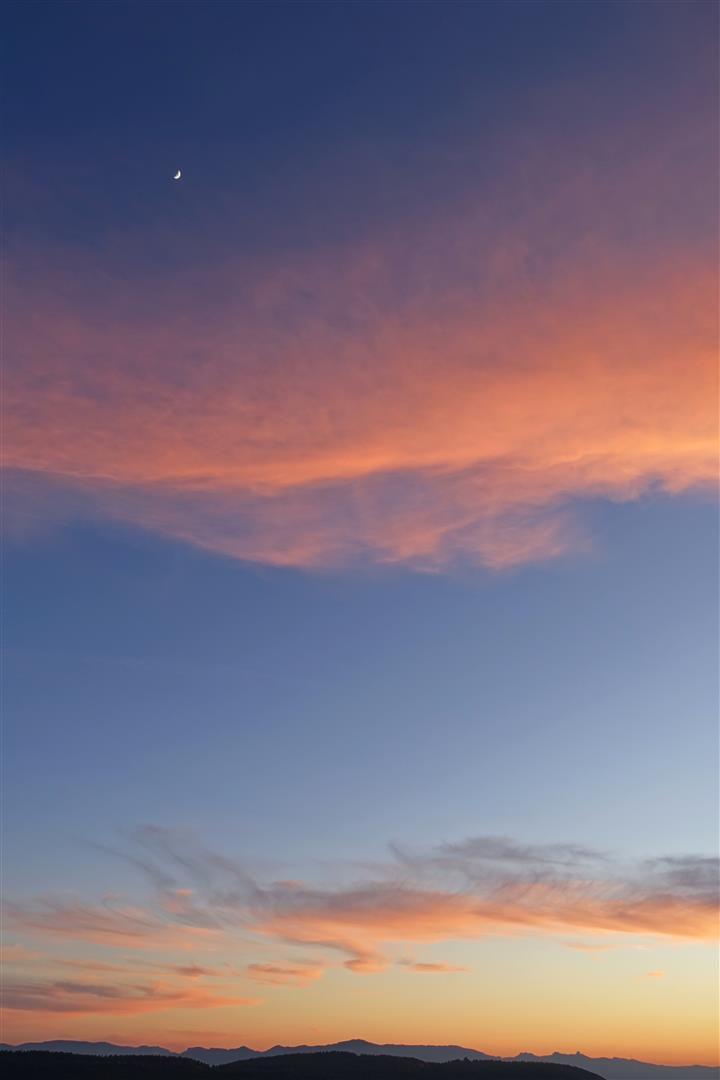 """crépuscule dans """"huit et demie"""" sur le massif de l'Etoile"""