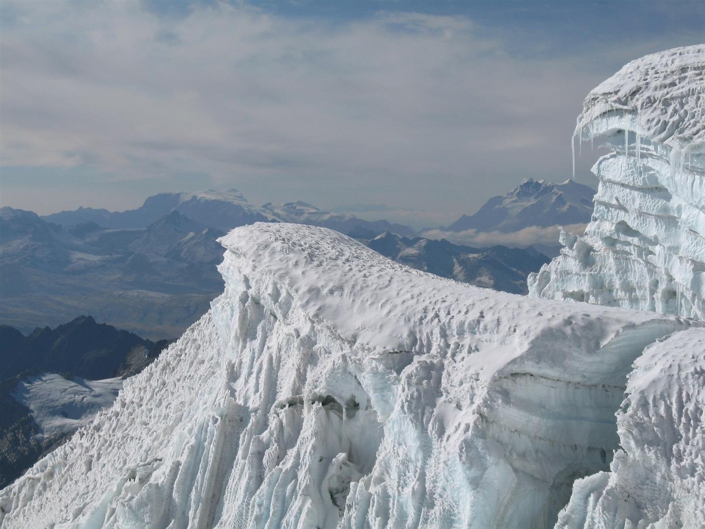 le glacier à 5500 m