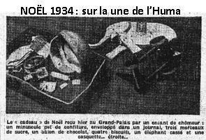 Noël de chômage ! Noël de misère ! Lutte des classes ! - Edito de P. Vaillant-Couturier - Huma du 25/12/1934