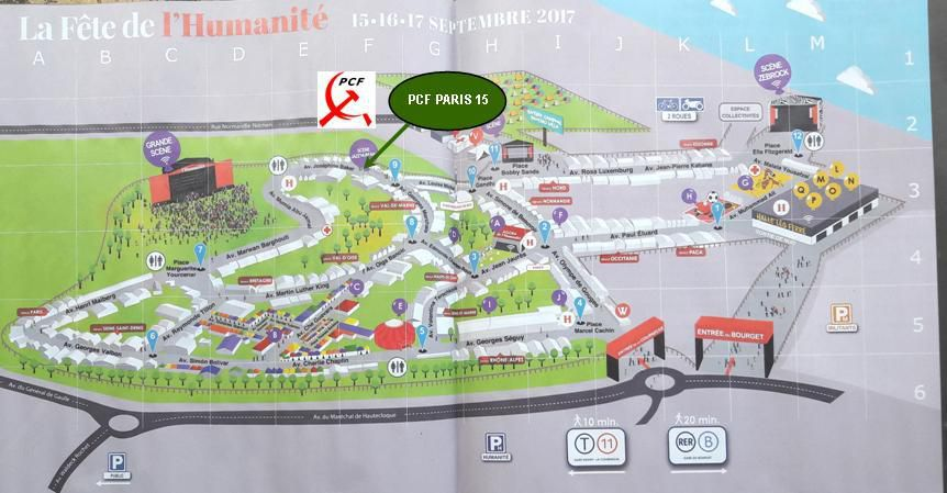 LE PCF PARIS 15 A LA FETE DE L'HUMA 2017