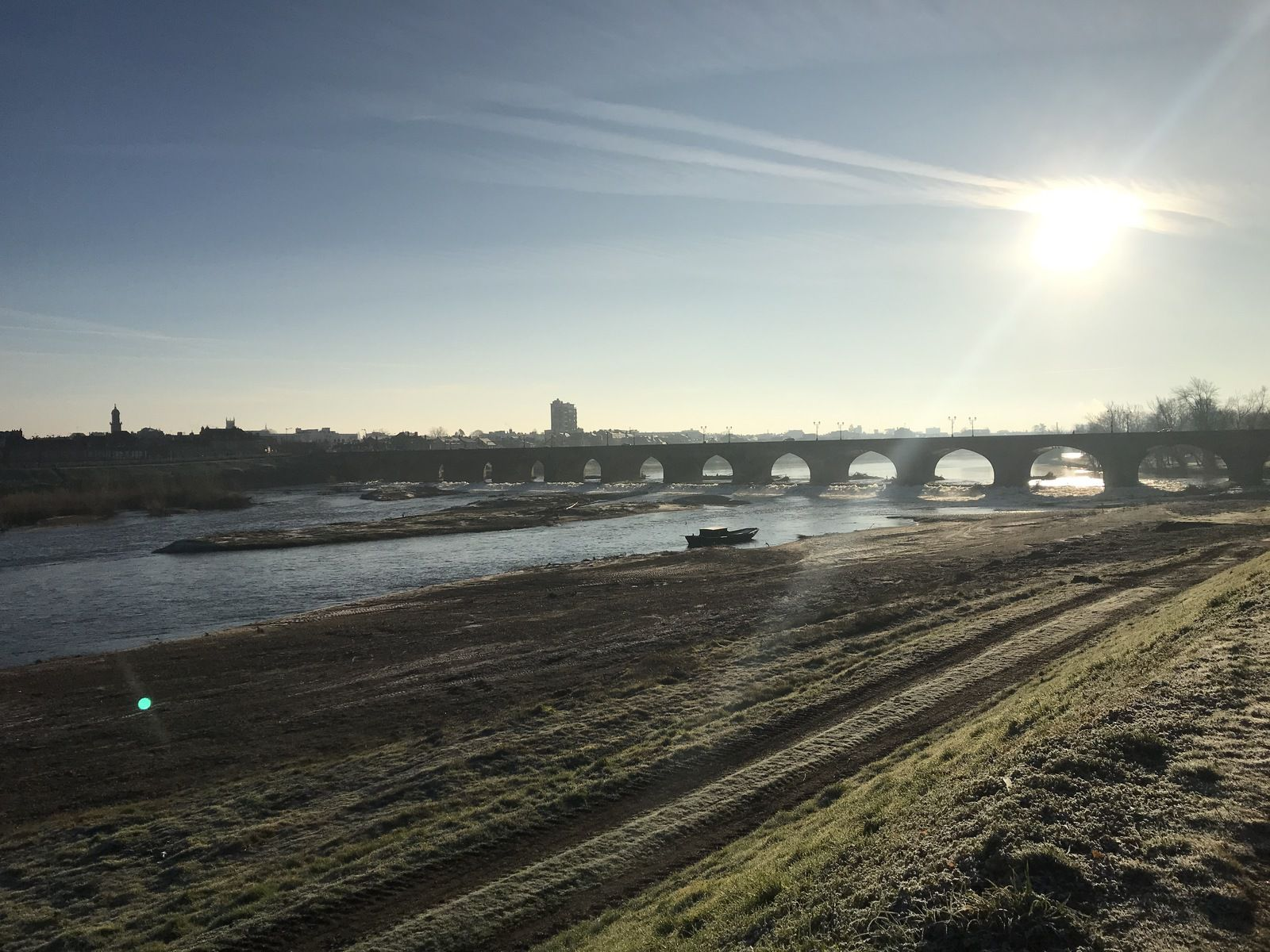 Gelée blanche sur le pont Régemortes et celui du Lion