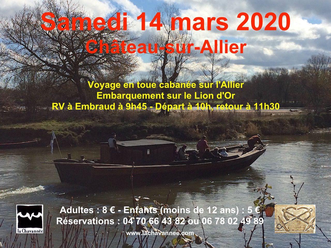 Entrez en bateau le samedi 14 mars 2020