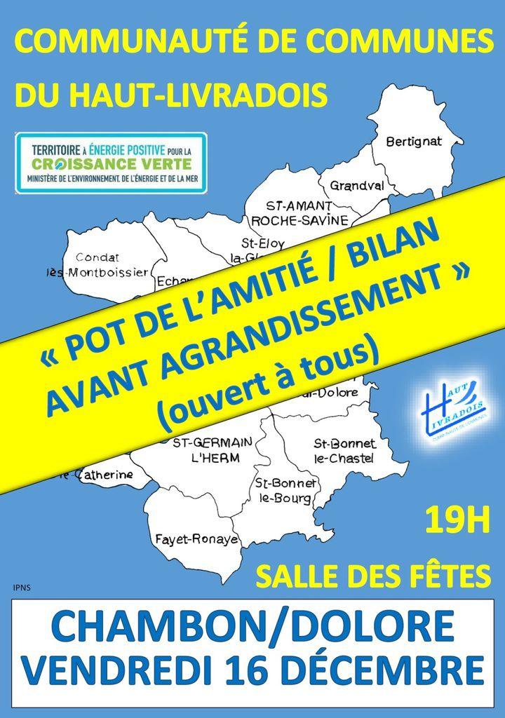 Invitation du Président de la Communauté de communes du Haut-Livradois