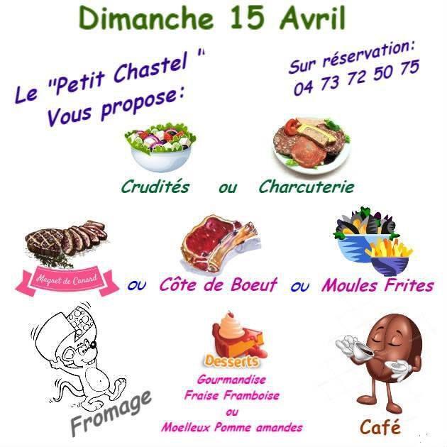 Dimanche 15 avril au Petit Chastel