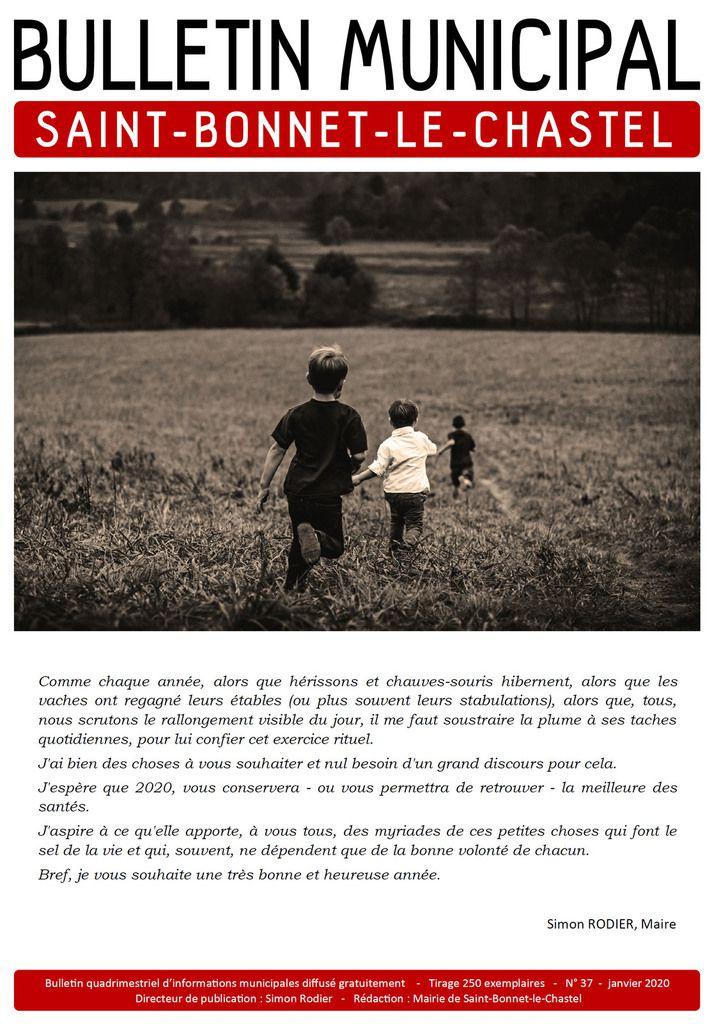bulletin municipal No37 saint-bonnet-le-chastel janvier 2020