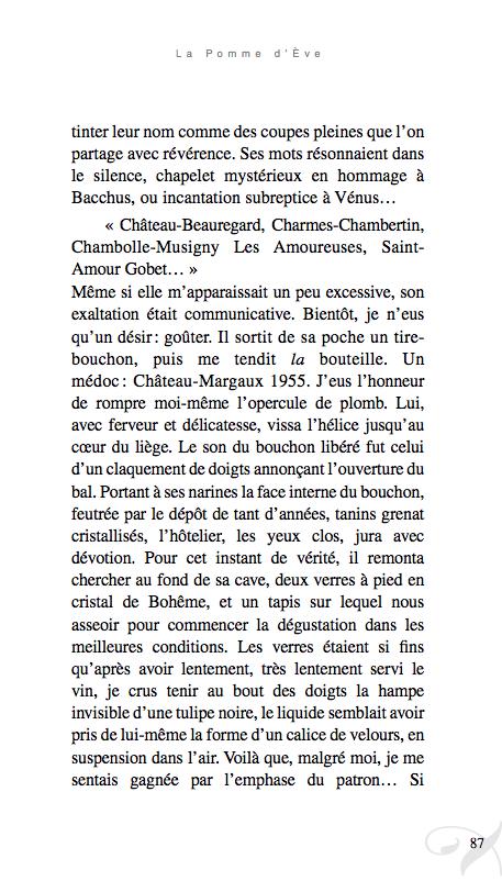 Extrait de La Pomme d'Ève, de Myriam Saligari, collection élan d'elles chez Elan Sud