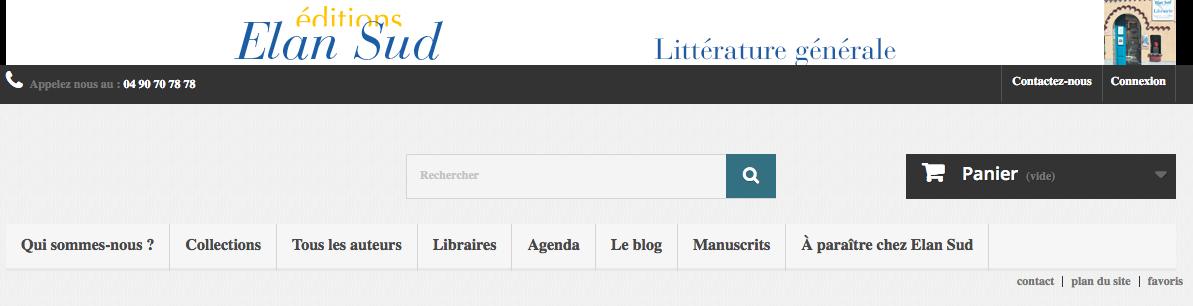 Elan Sud, édition indépendante en littérature générale