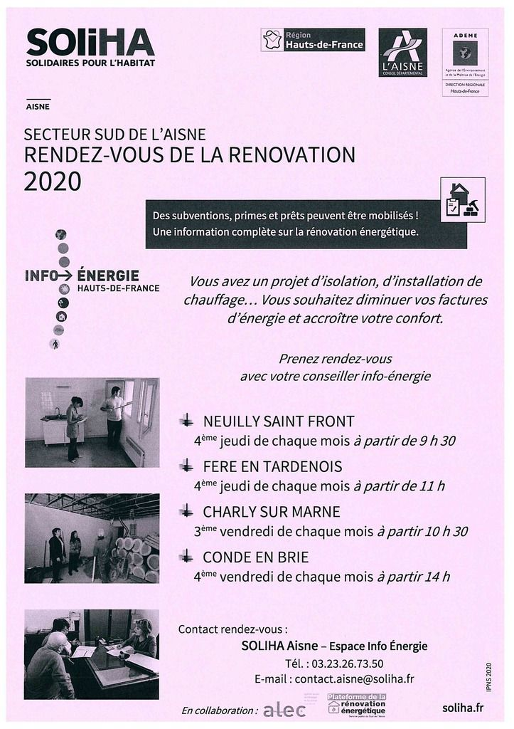 SOLIHA - Permanences d'information Habitat 2020