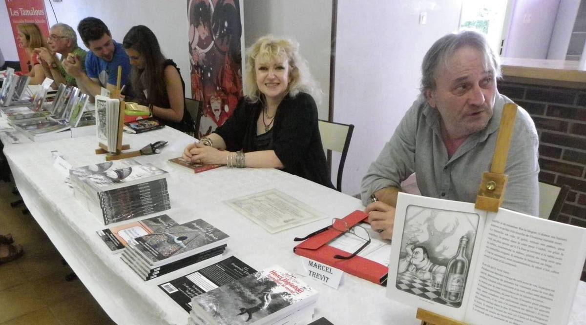 L'auteur et l'illustratrice en plein travail!