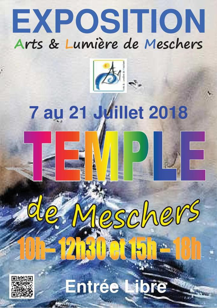 Exposition au temple de Meschers