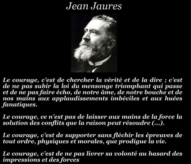 Le courage selon Jaures