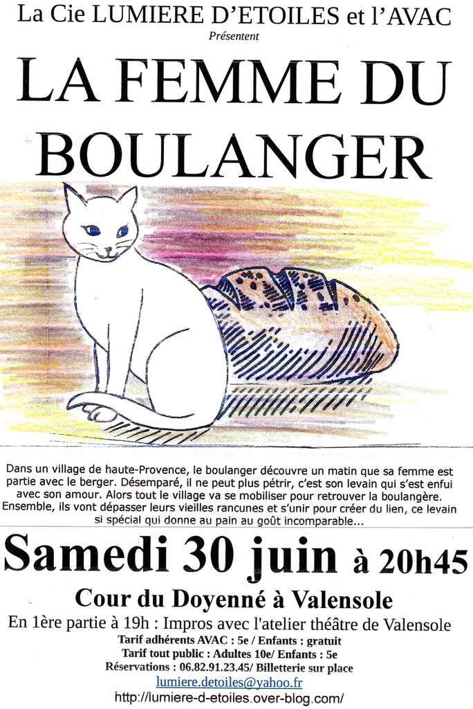 LA FEMME DU BOULANGER ce samedi 30 juin à Valensole